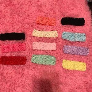 Crotchet baby headbands